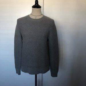 J crew ribbed neck grey sweater